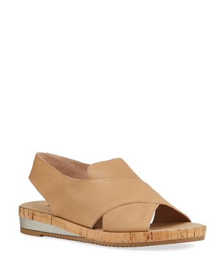 Sesto Meucci Sabita Demi-Wedge Flat Sandals, Beige