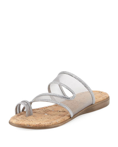 Best Casual Mesh Flat Slide Sandal, Light Gray