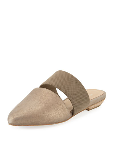 Day Two-Piece Pointed-Toe Mule, Platinum