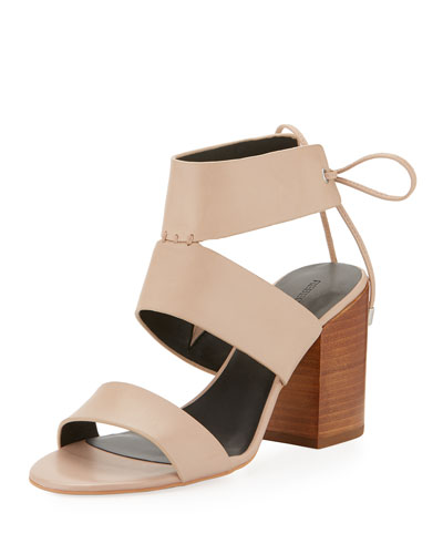 Christy Leather City Sandal, Nude