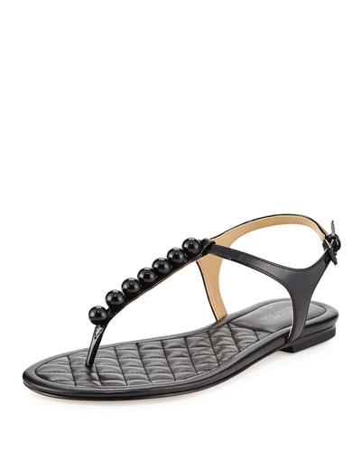 Kirby Patent Studded Sandal, Black