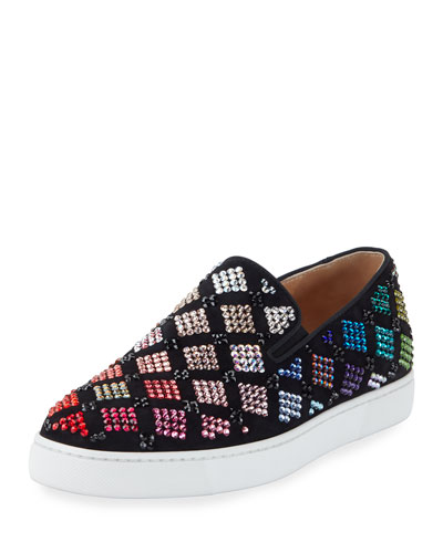 Arlettenbato Embellished Suede Sneaker, Black