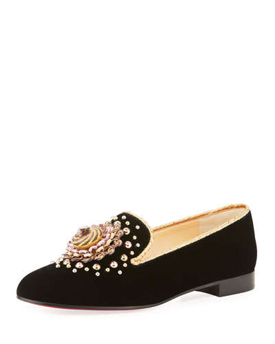 Museo Velvet Red Sole Smoking Loafer