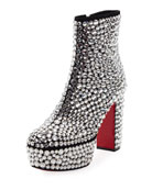 Roxxxy Strass Crystal Platform Red Sole Boot