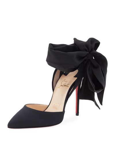 Douce du Desert Red Sole Pump, Black