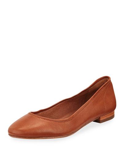 Gloria Soft Leather Ballerina Flat