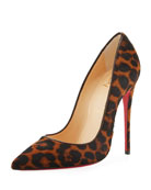 So Kate Calf-Hair 120mm Red Sole Pump, Leopard