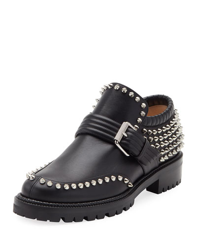 Madame Mix Spike Slip-On Bootie, Black