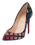 Arletta Multicolor Crystal Red Sole Pump