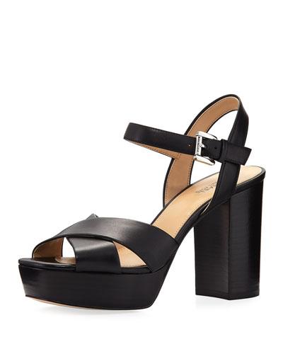 Divia Suede Platform Sandal, Black