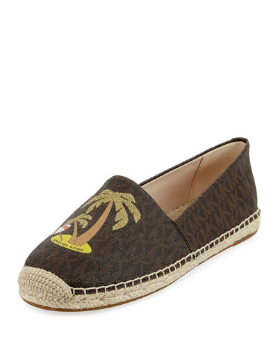 Kendrick Palm Tree Slip-On Espadrille, Brown