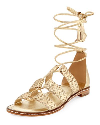 Monterey Woven Metallic Gladiator Sandal