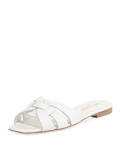 Nu Pieds Flat Slide Sandal, White