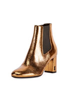 LouLou Metallic Ankle Boot, Bronze