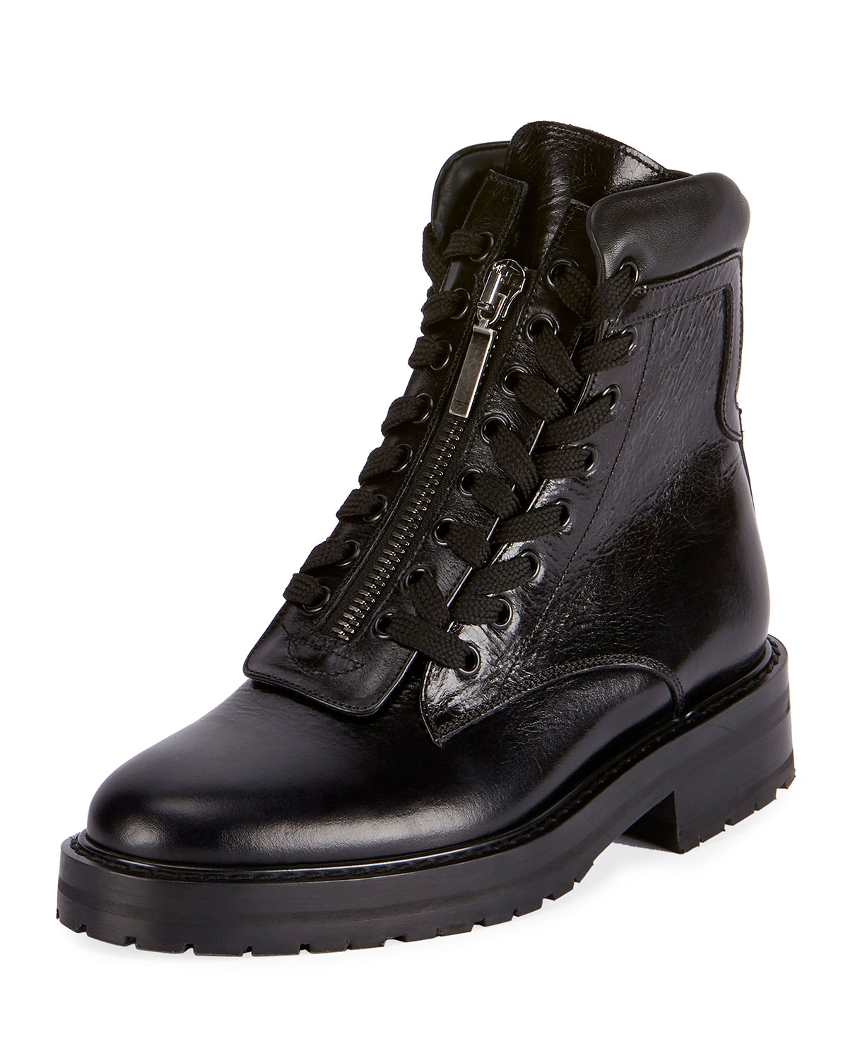 William Double-Laced Combat Boot, Black