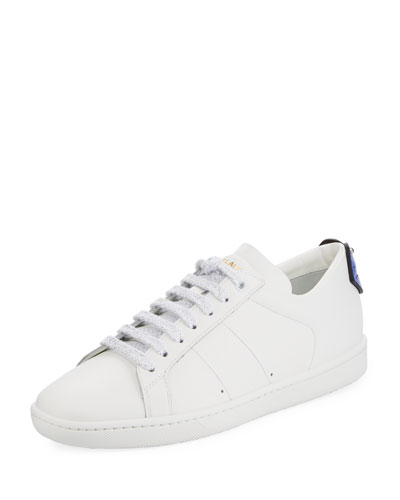 Court Classic Lips Leather Low-Top Sneaker