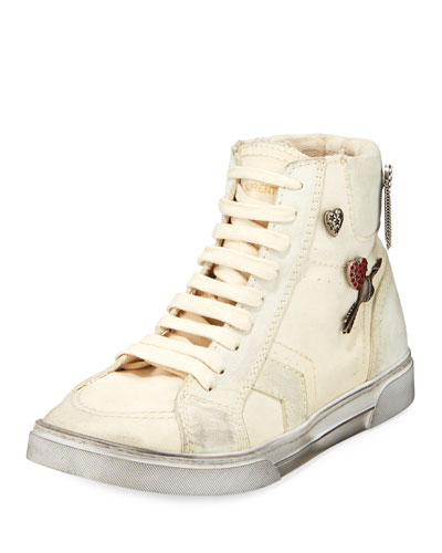 Antibe Distressed High-Top Sneaker