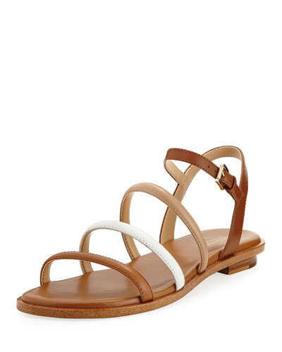 Nantucket Strappy Flat Sandal, Brown