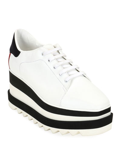Lace-up White Rubber Sole Shoes   Neiman Marcus 46fb66351f