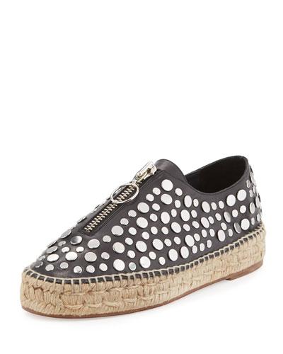 Devon Studded Espadrille Sneaker, Black