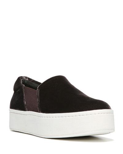 Warren Velvet Platform Sneaker