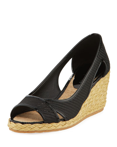 Coraa Wedge Espadrille Sandal, Black