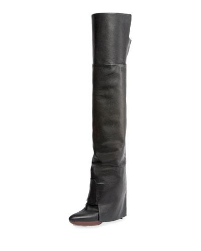 Newton Over-The-Knee Boot, Black