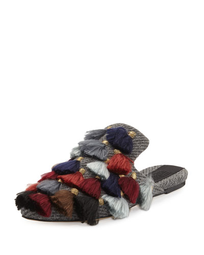 Eloise Wool-Blend Slipper Flat