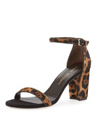 Pipenearlynude Calf-Hair City Sandal