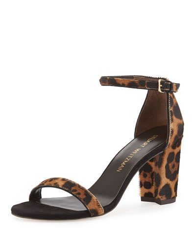 Pipenearlynude Calf-Hair City Sandal