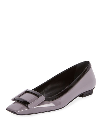 Decbelle Graphic Patent Slip-On Flat, Purple