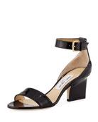 Edina Patent Sandal, Black