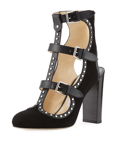 Hensley Strappy Open-Back Bootie