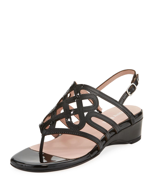 Kelvo Patent Wedge Sandal