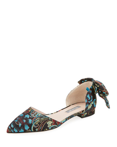 Awaken Paisley Bow Flat, Flower