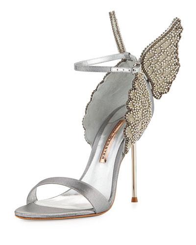 Evangeline Angel Wing Sandal, Silver