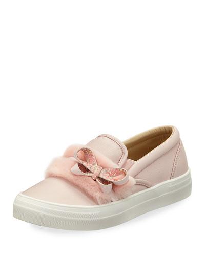 Adele Bella Faux-Fur Sneaker