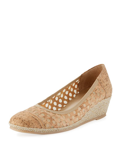 Mabyn Cork Wedge Slip-On Espadrille, Beige