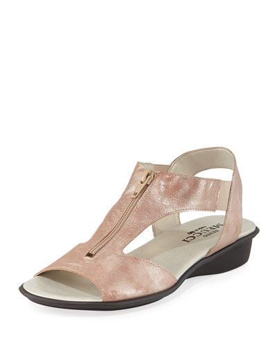 Eliso Metallic Comfort Sandal, Sand