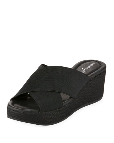 Savee Wedge Slide Sandal, Black
