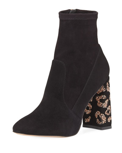 Sam 110mm Embellished-Heel Boot