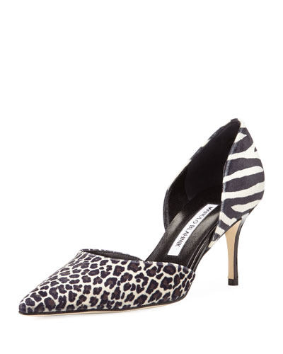 Tayler Velvet Pump, Mixed Animal Print