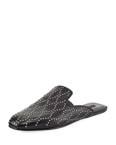 Jaelle Studded Flat Loafer Slide