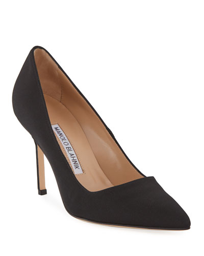 BB Crepe 90mm Pumps, Black