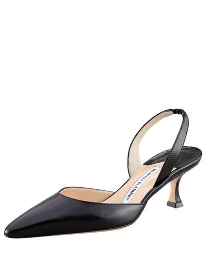 Carolyne Low-Heel 50mm Halter, Black