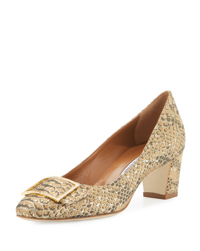 Durango Snake-Brocade 50mm Pump, Gold