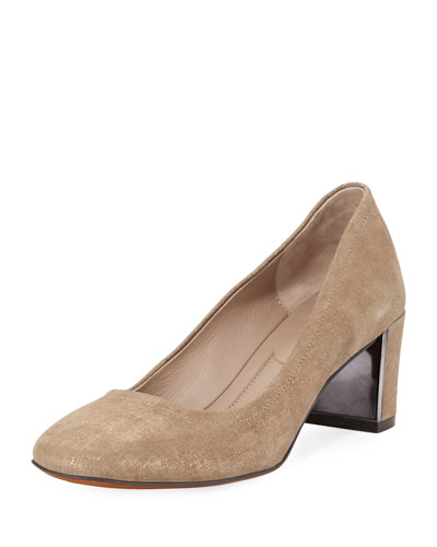 Corin Distressed Metallic Leather Pump