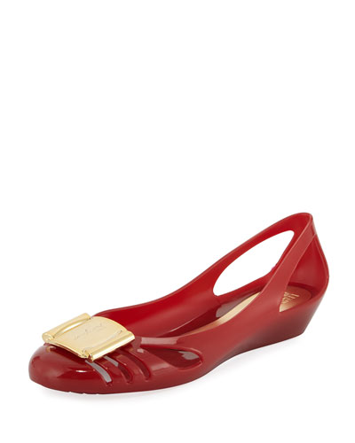 Jelly Ballerina Flat, Red