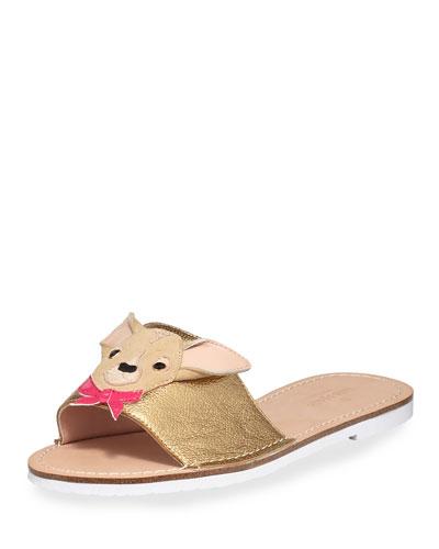 isadore doggie flat slide sandal