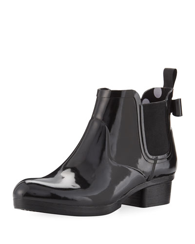telly rubber ankle rain boot
